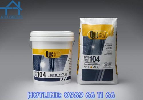 Quicseal 104 được đóng gói sẵn, dễ hòa trộn và thi công