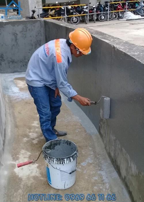 Quicseal 102 Eco có thể thi công theo bề mặt ngang và dọc, có thể thi công bằng ru lô, cọ hoặc thiết bị phun